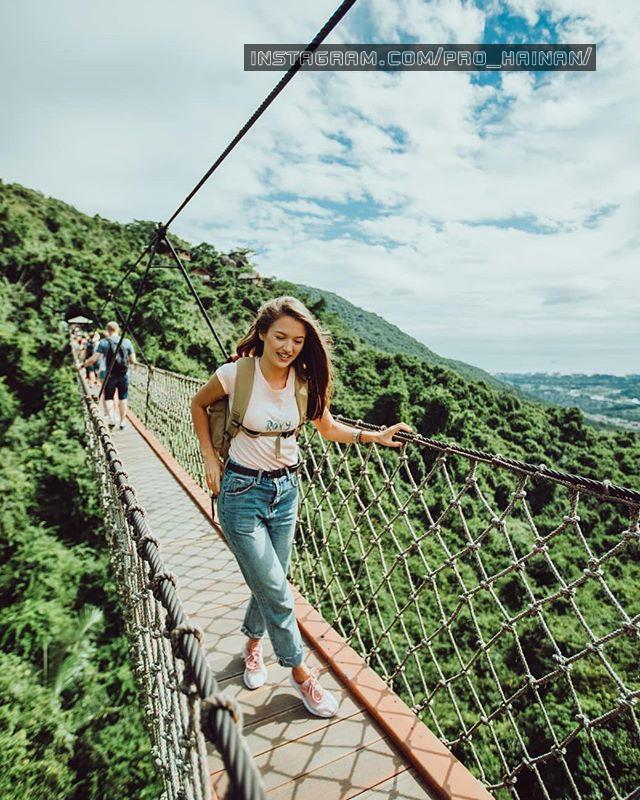 подвесной мост тропический рай ялонг бэй